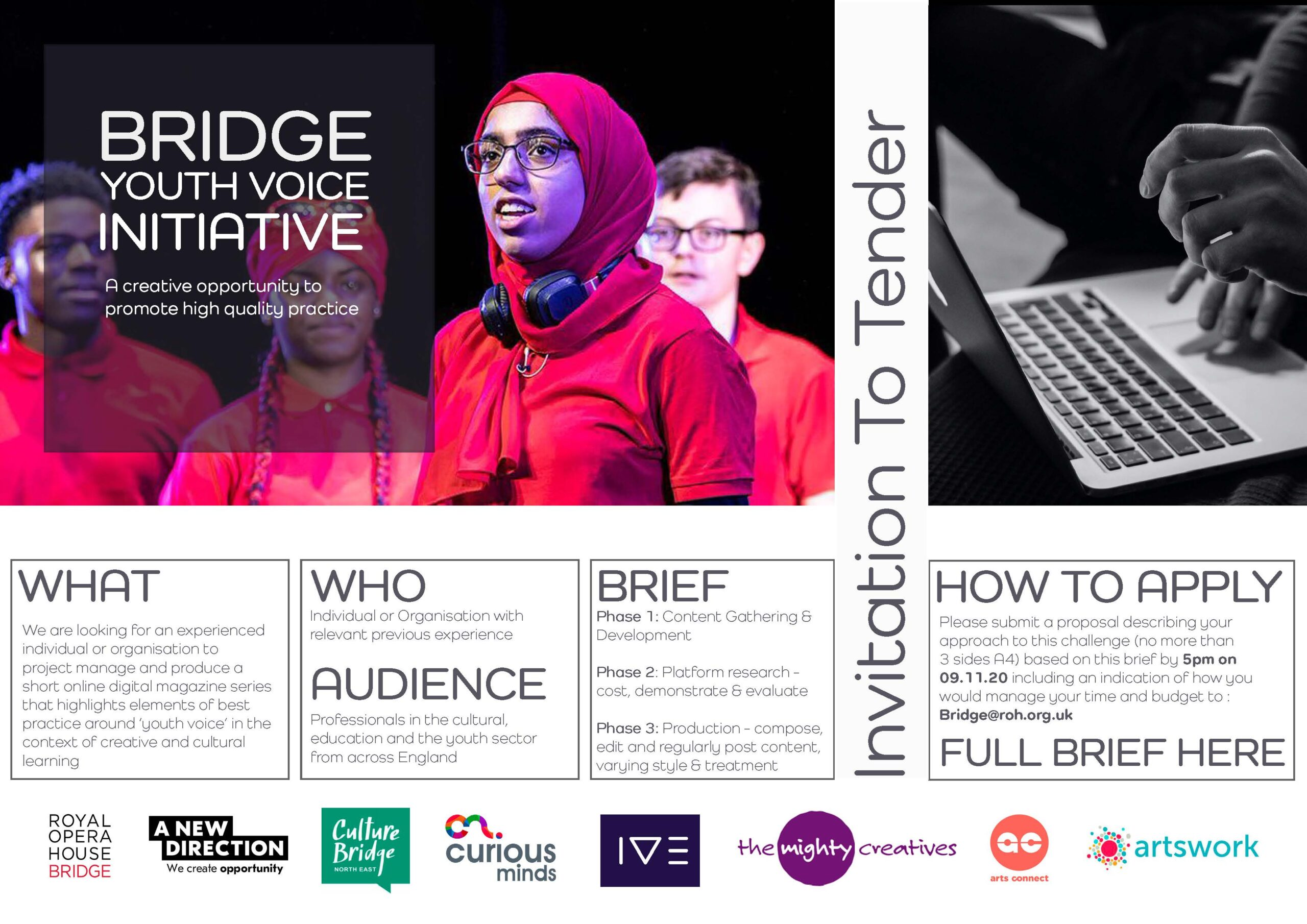 Call To Tender – Bridge Youth Voice Initiative