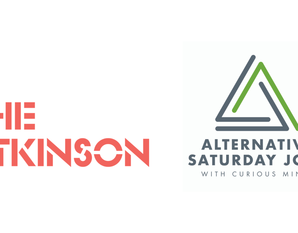 The Atkinson logo and Alternative Saturday Jobs logo