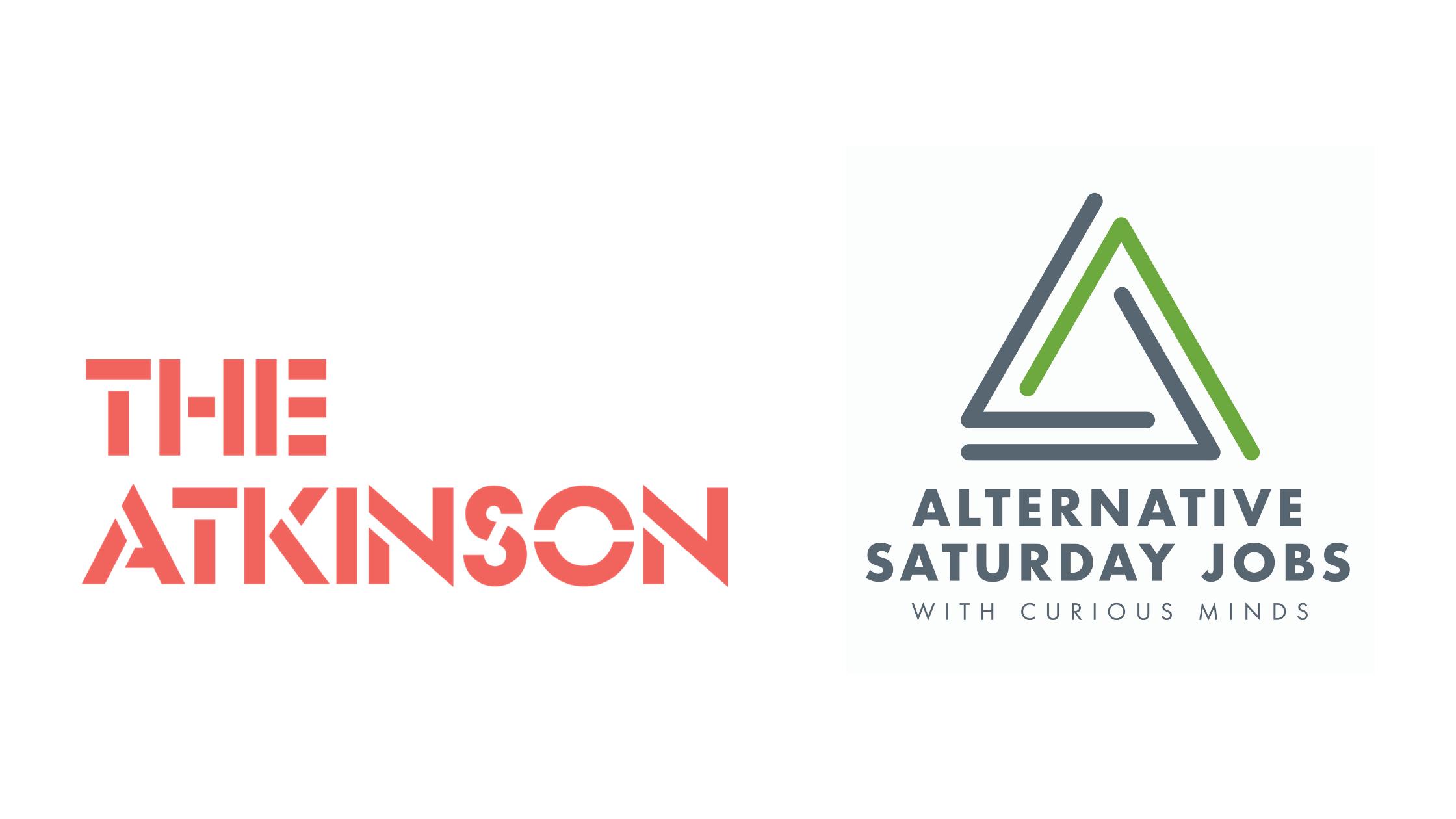 The Atkinson logo and Alternative Saturday Jobs logo
